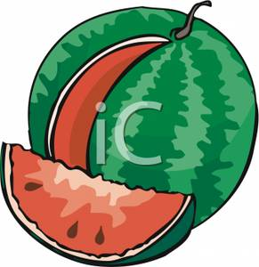 Watermelon clipart round With Free Clipart Cut A