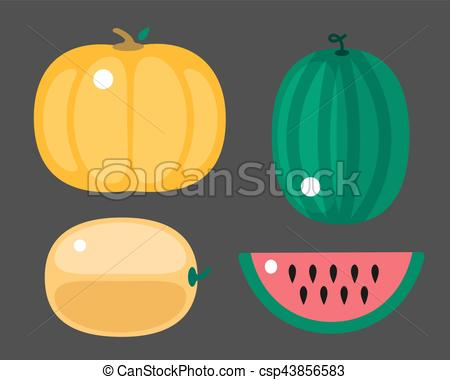 Watermelon clipart single vegetable Food on and single healthy