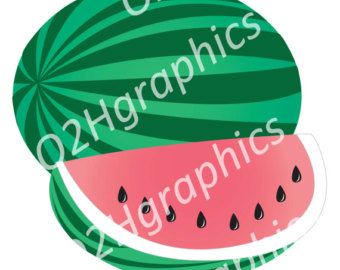 Watermelon clipart single vegetable Digital Vector PNG Use Clipart