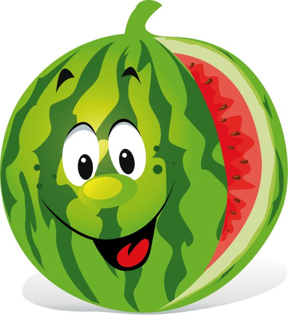 Watermelon clipart single vegetable Fruits Pinterest Cartoon veggie best