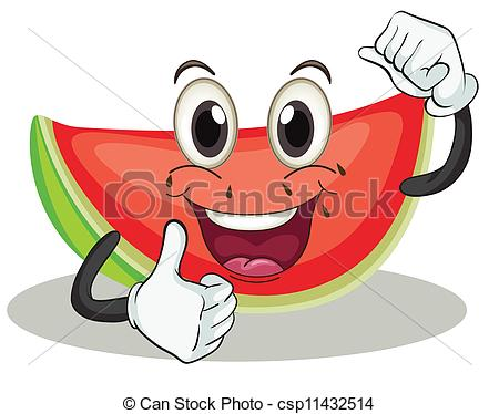 Watermelon clipart single vegetable  of watermelon Vector illustration