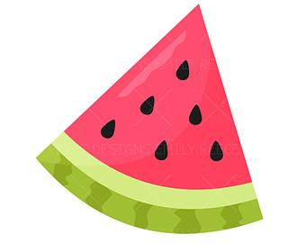 Watermelon clipart triangle Cute Watermelon slice clipart collection