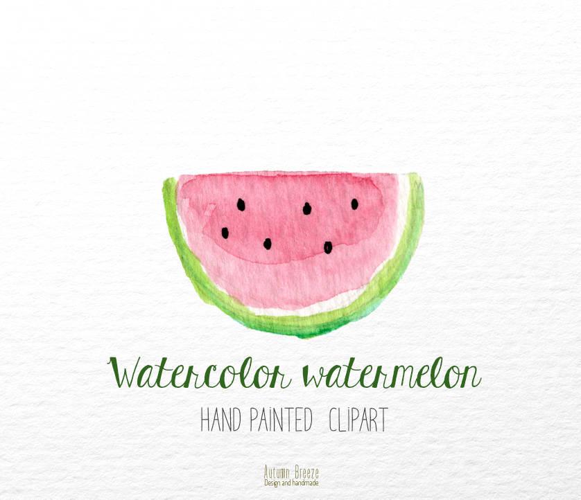 Watermelon clipart watercolor A watermelon clip Watercolor