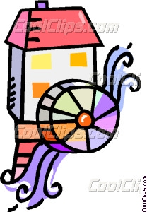 Watermill clipart Mill art mill Clip water