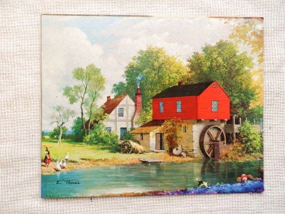Watermill clipart country scene Watermill