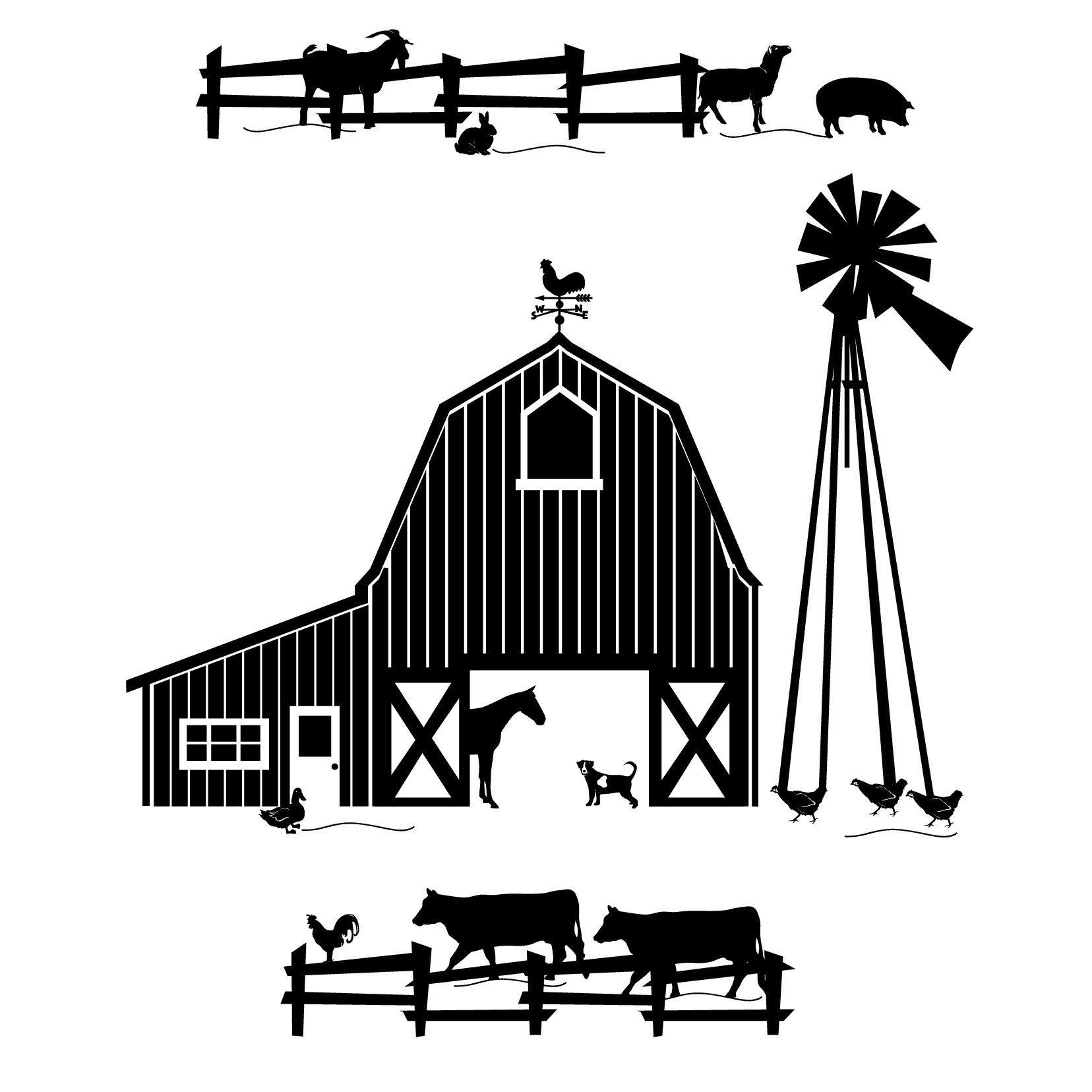 Watermill clipart country scene And black scene clipart Search