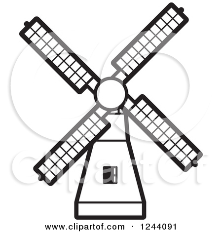 Windmill clipart stretch Windmill Clipart Black White cliparts