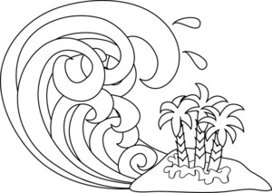 Tsunami clipart tropical storm Tropical clip Tsunami flooding illustration