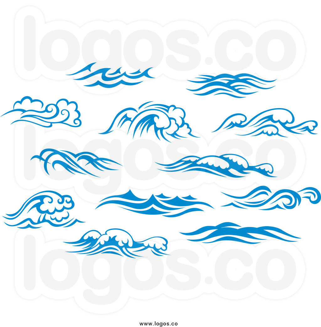 Curl clipart blue wave  waves Wave blue surf
