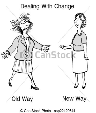 Way clipart change management Drawing csp22129644 Change Old New