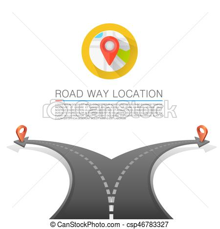 Way clipart choice Choice Vector Road background Road