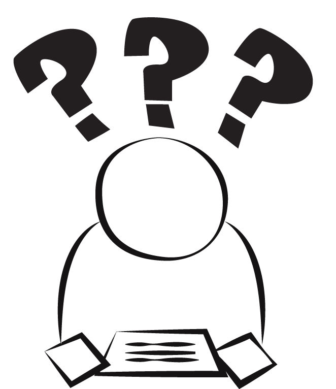 Way clipart confused person #9