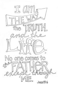Way clipart the life Life i truth the calligraphic