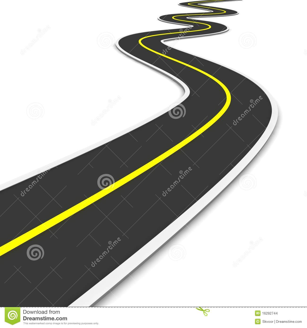 Way clipart zig zag Collection road road Illustration clipart