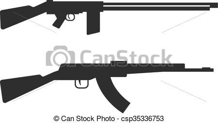 Assault Rifle clipart machine gun #9