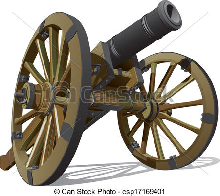 Weapon clipart cannon Clipart Vector of field field