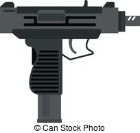 Weapon clipart metal object Clip  of Small UZI
