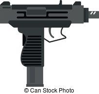 Weapon clipart vector Submachine Clip of submachine gun