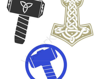 Weapon clipart thor Silhouette Thor Vector Instant Silhouette