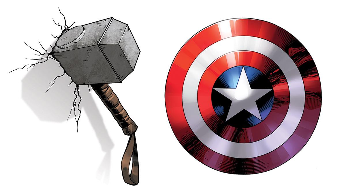 Weapon clipart thor Shield DK vs Captain Hammer