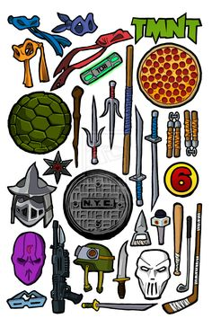 Weapon clipart tmnt Teenage Teenage Turtles Connelly