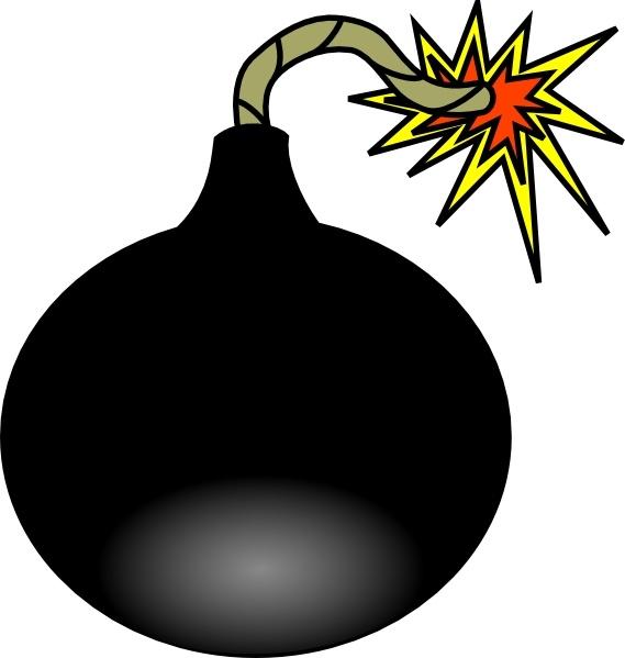 Comics clipart bomb Free Zone Valentine Tnt vector