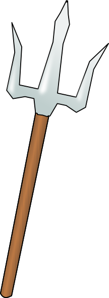 Spear clipart trident Clker com royalty Trident at