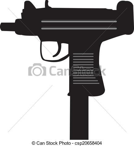 Assault Rifle clipart uzi Illustration Uzi of Uzi
