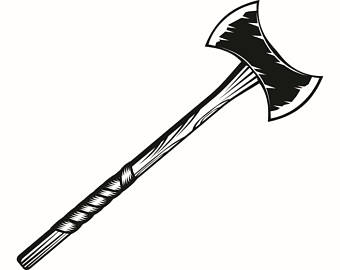 Axe clipart tool Wood Etsy Weapon Viking Forest