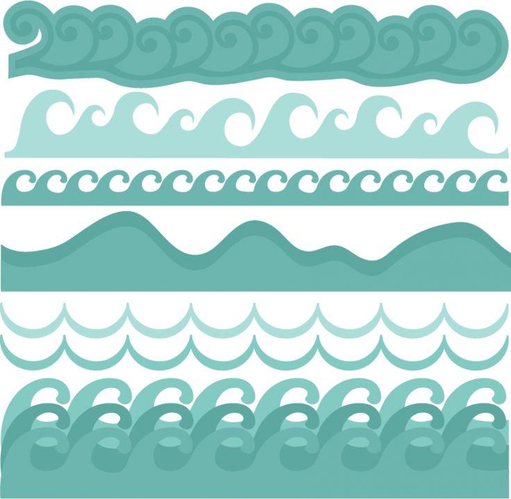 Monster Waves clipart border #4