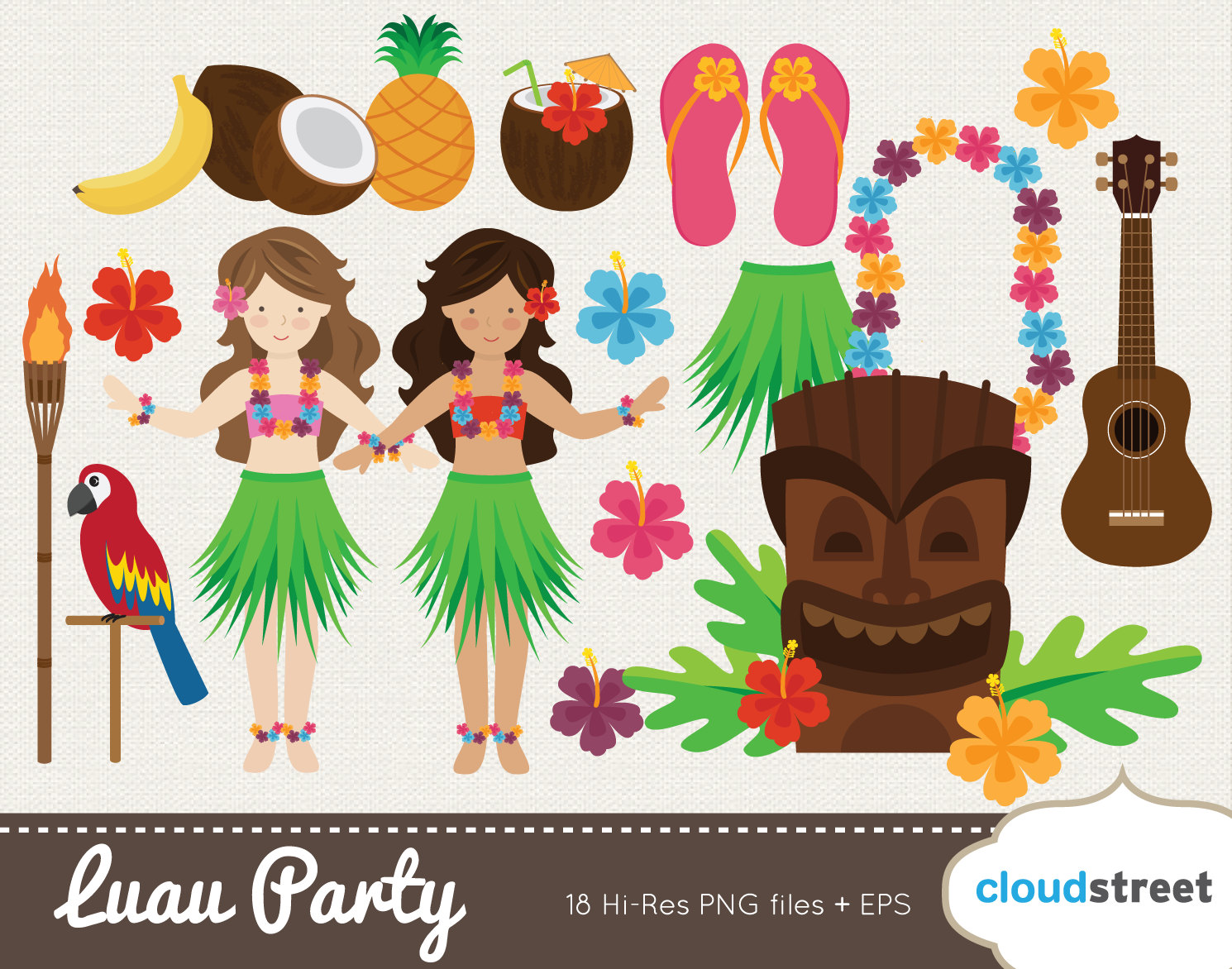 Sandal clipart luau Clip / file 20% for