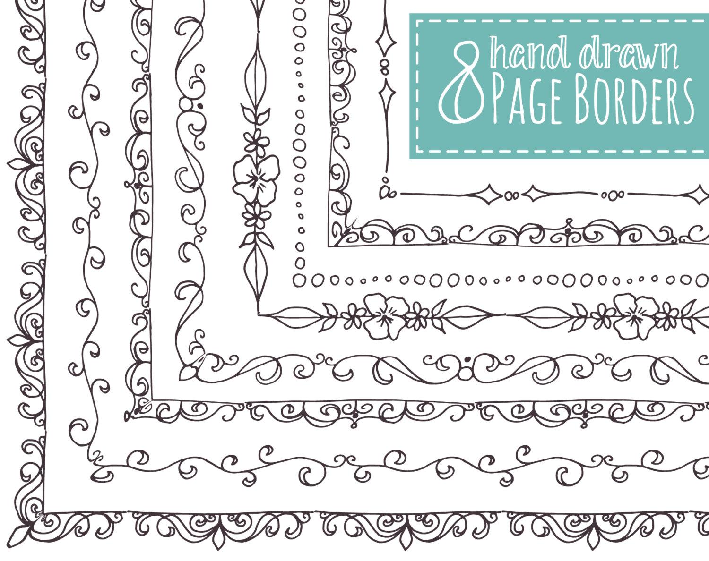 Drawn decoration Doodle Borders Frames OFF //