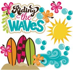 Weaves clipart surf wave #9