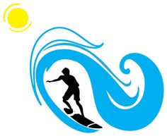 Weaves clipart surf wave #7