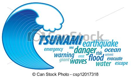 Tsunami clipart vector Cloud Word of Giant