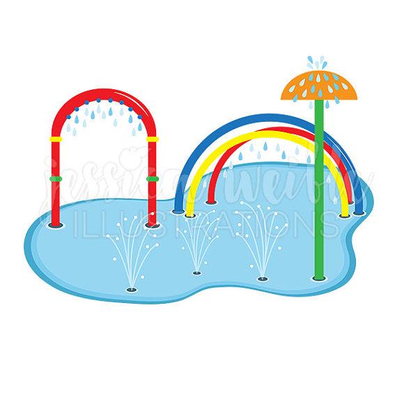 Blue Water clipart summer splash Splash Splash Digital Art Summer