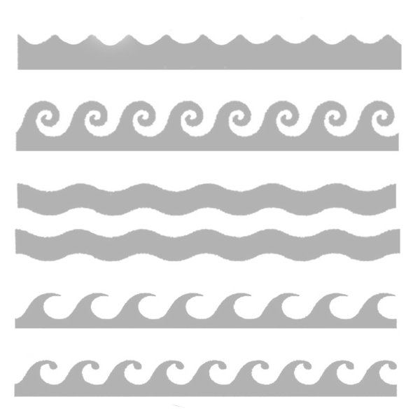 Weaves clipart wave line Stenciling Ocean the of Stencil