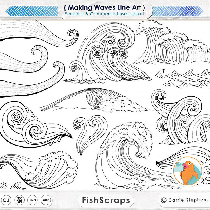 Weaves clipart wave line Drawing PNG Clip Water Photoshop