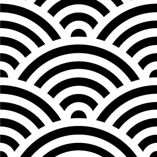 Weaves clipart wave pattern White and com black –