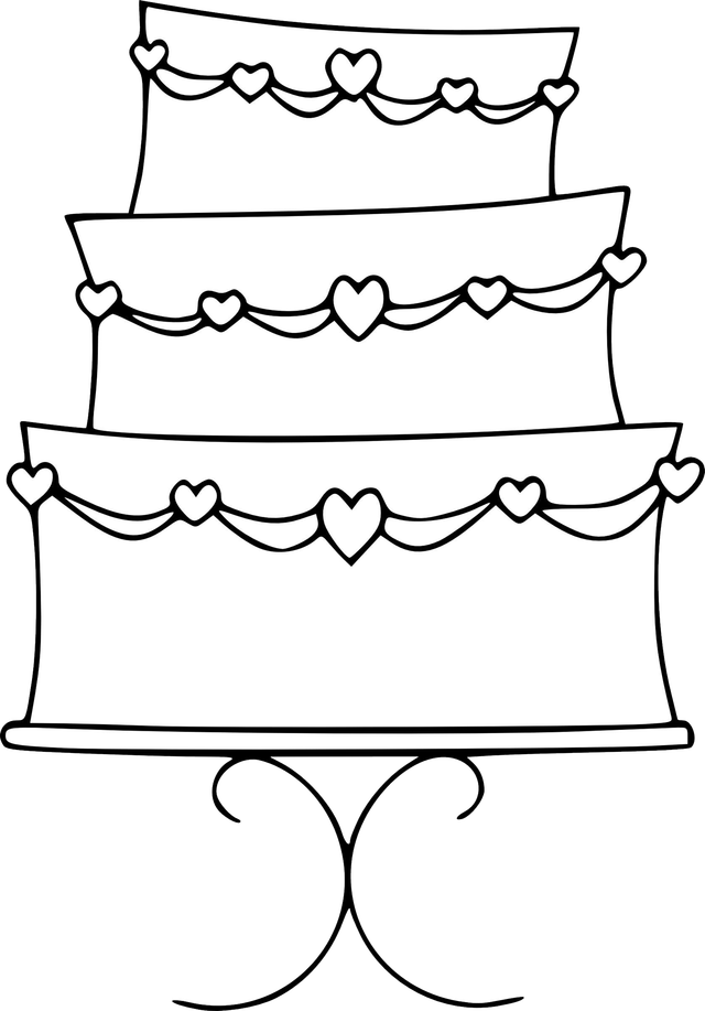 Wedding clipart outline Cake Image  Color) Wedding
