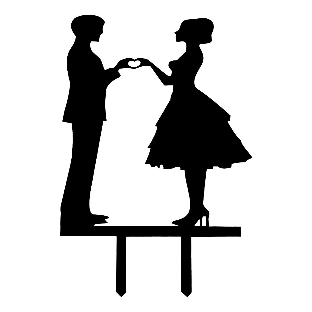 Wedding Cake clipart bridal couple Acrylic Topper Wedding Cake Party