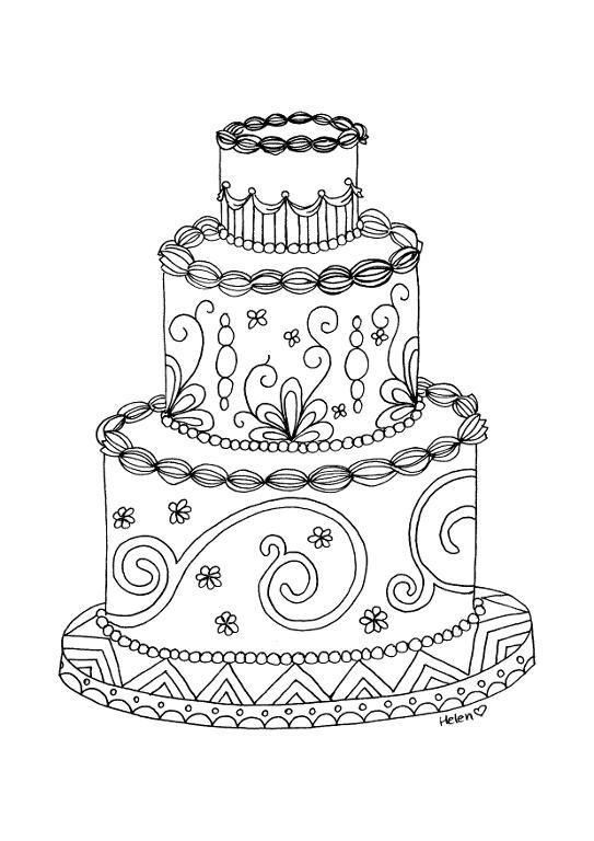 Wedding Cake clipart color Pinterest blossoms Pinterest Wedding drawing