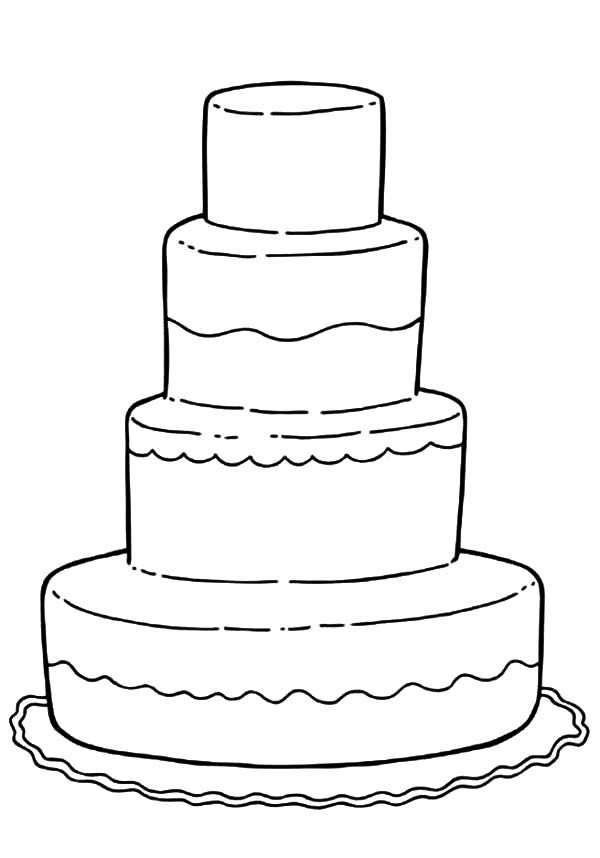Wedding Cake clipart color Coloring Sheets Wedding Colouring Children
