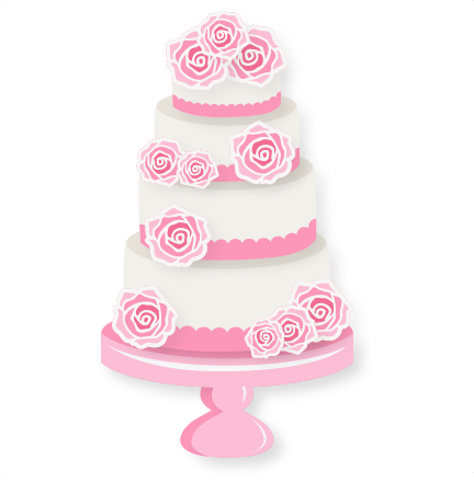 Wedding Cake clipart cute cake SVG files clipart Cake scrapbook