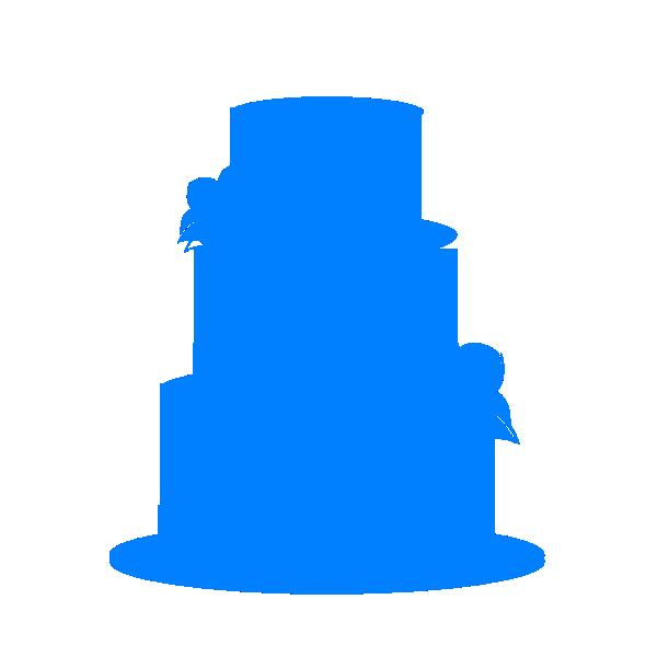 Wedding Cake clipart outline Art Clipart Cake Blue Clip