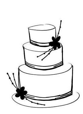 Wedding Cake clipart outline Best art ClipArt wedding Clip