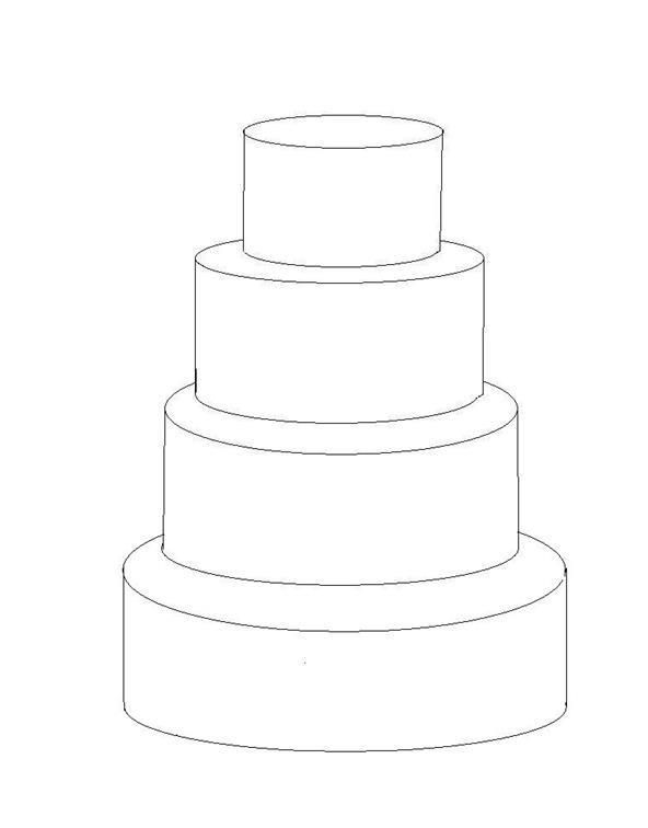 Wedding Cake clipart plain Royal Template Template 4 Tier