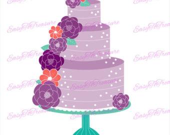 Wedding Cake clipart tiered cake JPEG Digital files Cake Wedding