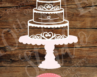 Wedding Cake clipart tiered cake For Three cake files cut