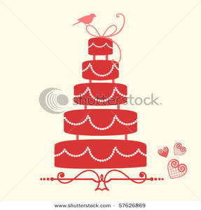 Wedding Cake clipart tiered cake Cake Red Wedding Tiered Tiered